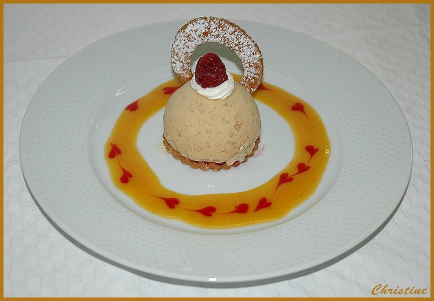Dessert à l'assiette.
