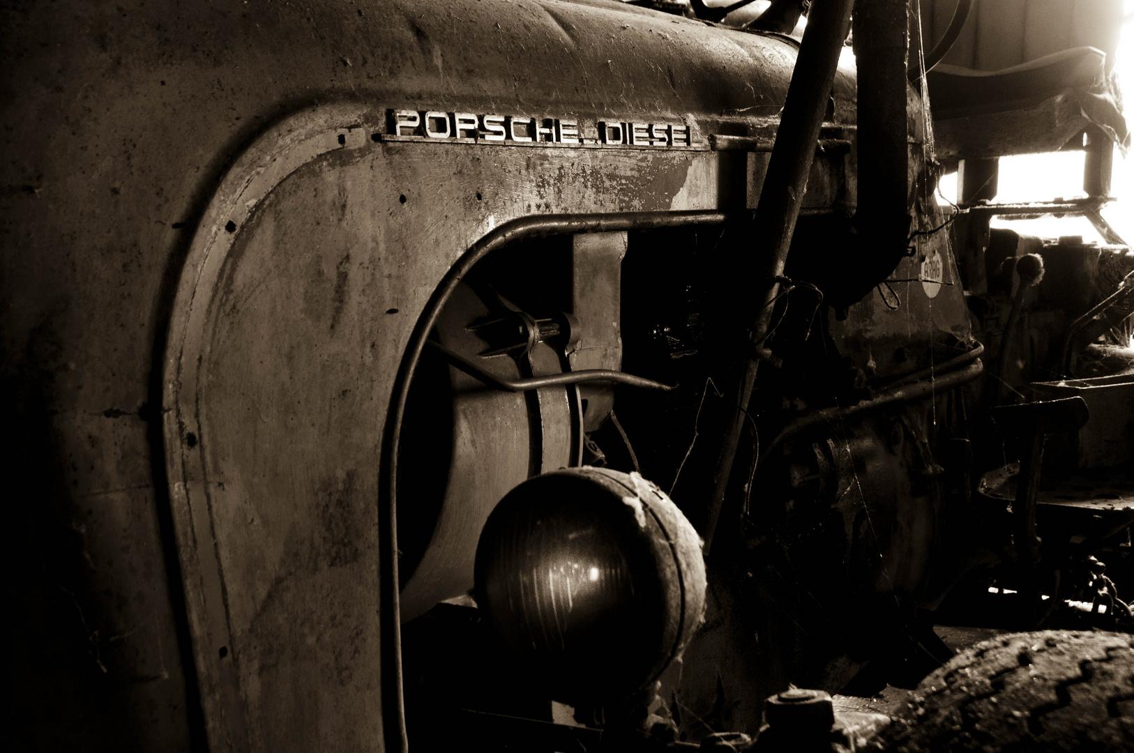 Detail alter Porsche