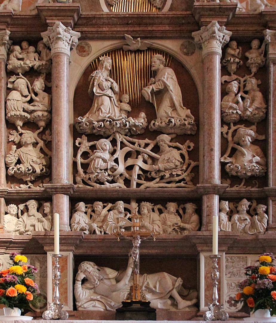 Detail aus dem Hauptaltar der Annenkirche in Annaberg- Buchholz