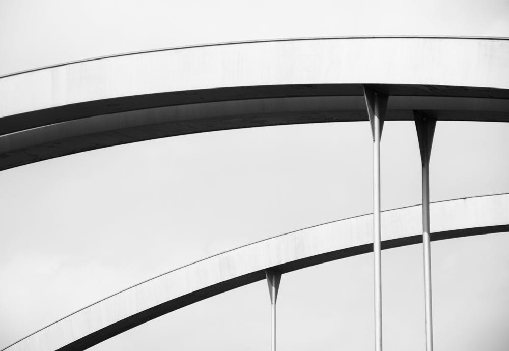 Detail - Autobahnbrücker bei Stegen am Ammersee / München - Lindau