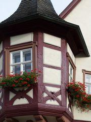 Détail de la façade de la Mairie de Markelsheim  --  Detail der Fassade des Markelsheimer Rathauses