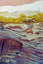 Détail de la paroi d'une grotte à Petra