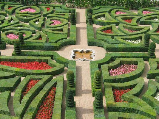 Detail der Gärten von Villandry