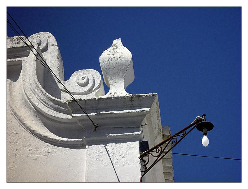 Detail der Lehmkirche in Vila Alva (Alentejo)