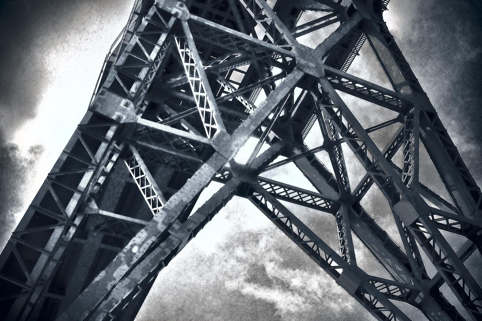 Detail der NOK-Eisenbahnbrücke Hochdonn