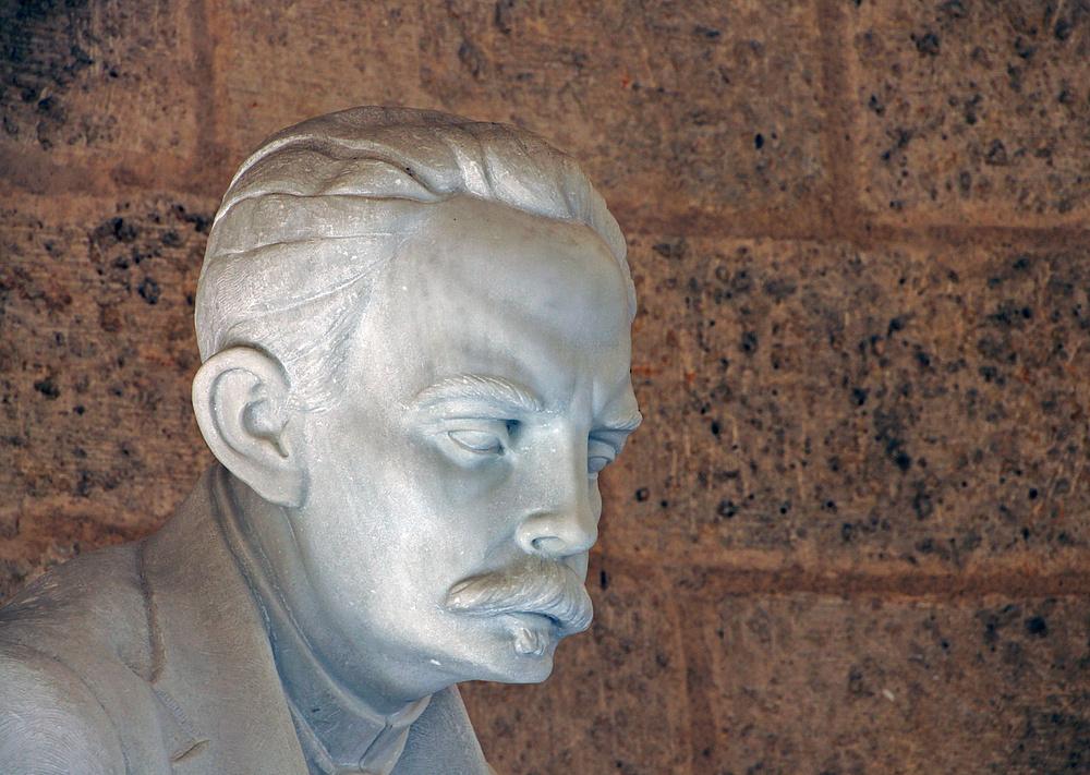 ..Detail der Statue Marti..