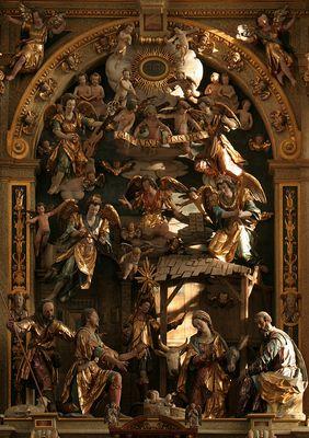 Detail des Weihnachtsaltars in der Ulrichskirche