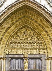 Détail du portail nord de l'Abbaye de Westminster  --  Detail des Nordportals des Westminster Abbey