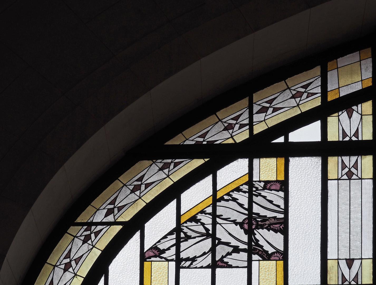 Détail d'un vitrail de Francis Chigot