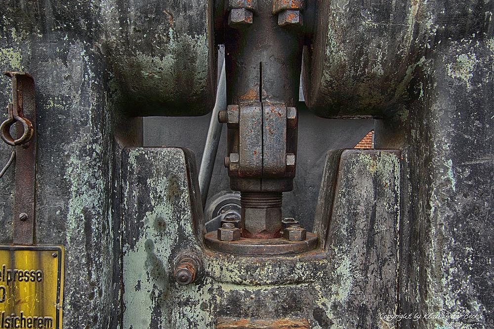 Detail einer alten Presse
