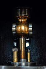 Detail einer Dampfmaschine