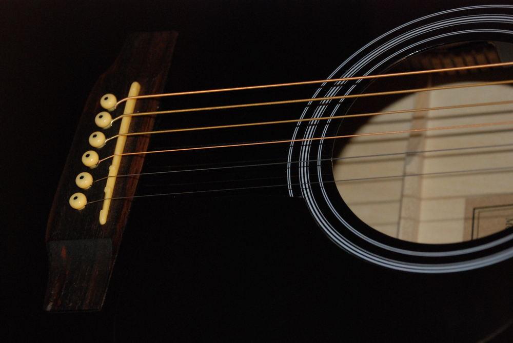 Detail einer Westerngitarre