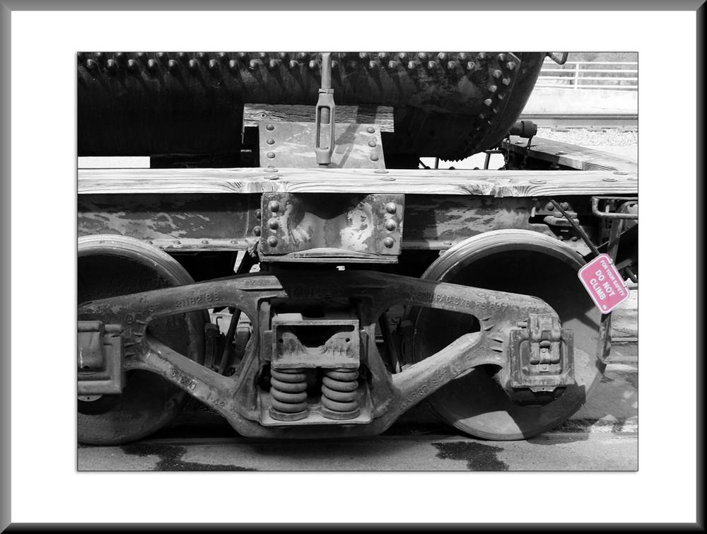 Detail eines Güterwaggons
