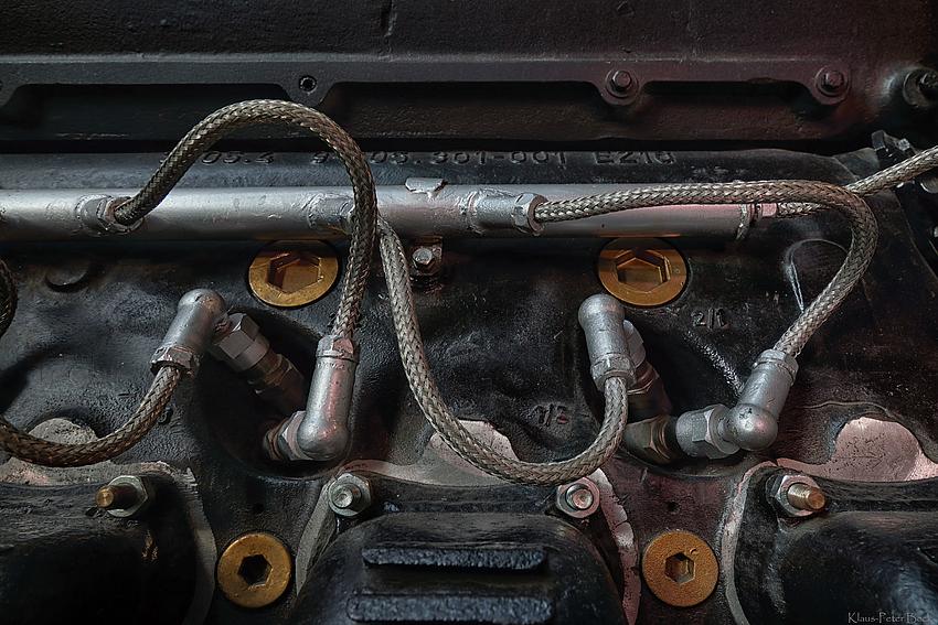 Detail eines historischen Flugzeug Motor