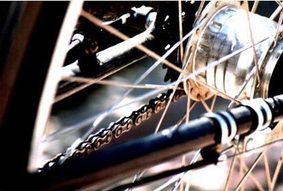 Detail Fahrradkette