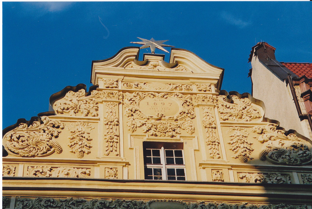 Detail Haus zum Stern Bürgerhaus 14/15.Jh. in Torun