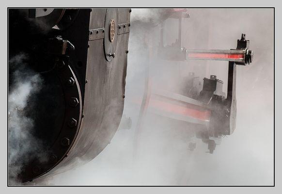 Detail im Dampf
