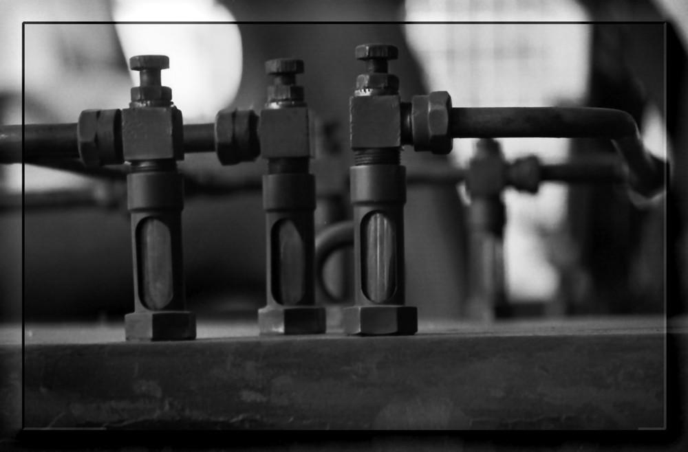 Detail im Gaskompressorenraum der Hansa-Kokerei Dortmund