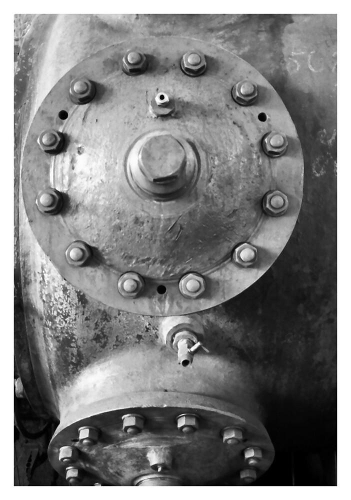Detail im Gaskompressorenraum der Hansa-Kokerei Dortmund II