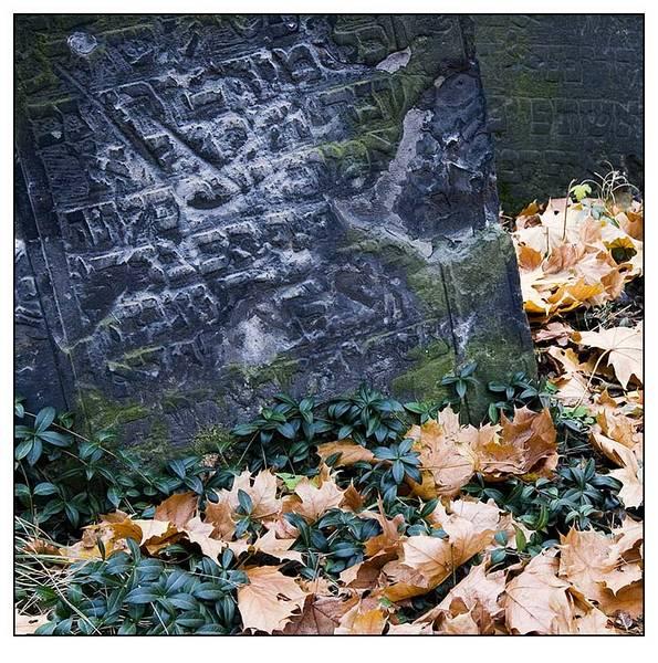 Detail jüdischer Friedhof in Prag