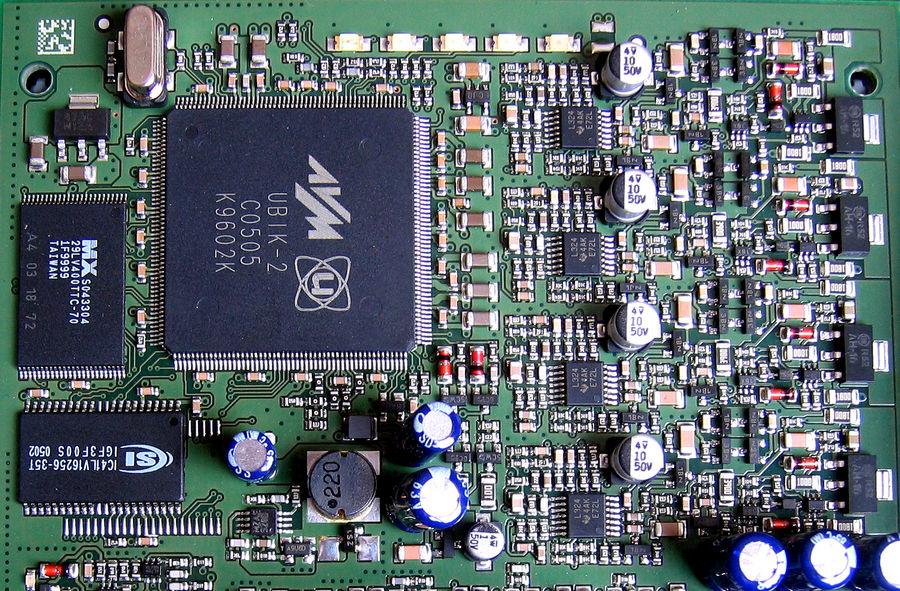 Detail-Makro ISDN-TK-Anlage Eumex 400