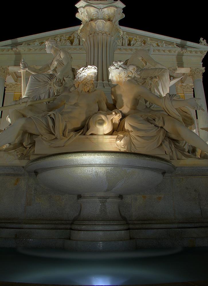 Detail Pallas Athene Brunnen