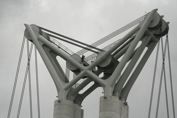 Détail Pont Gustave Flaubert