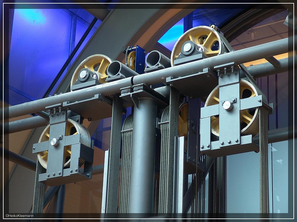 Detail vom Aufzug ...
