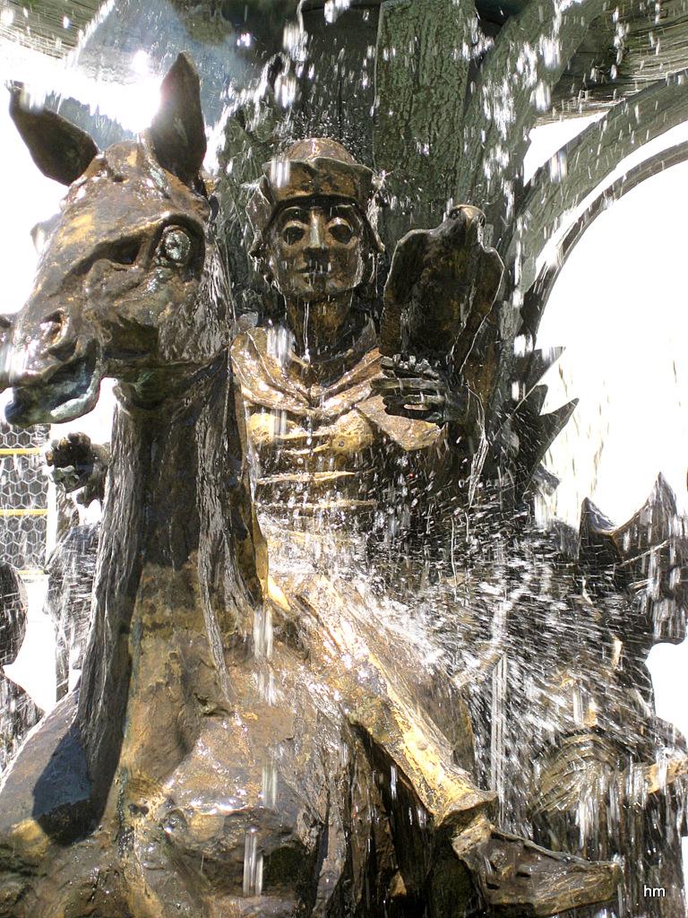 Detail vom Brunnen auf Schloß Zeil