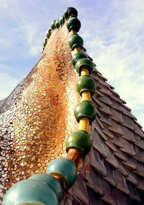 Detail vom Dach der Casa Batllo