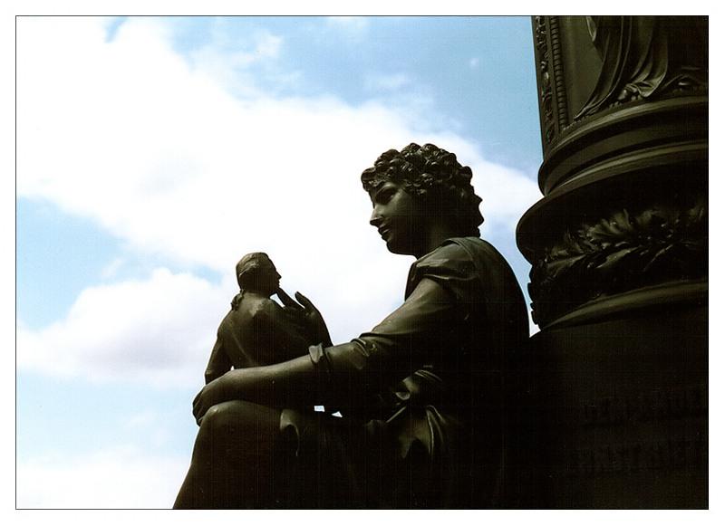 Detail vom Ernst-Rietschel-Denkmal...