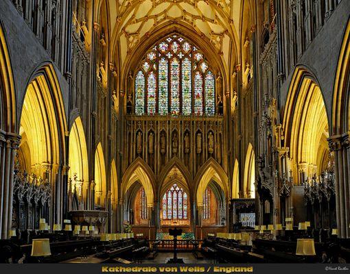 Detailansicht aus der Kathedrale von Wells / England