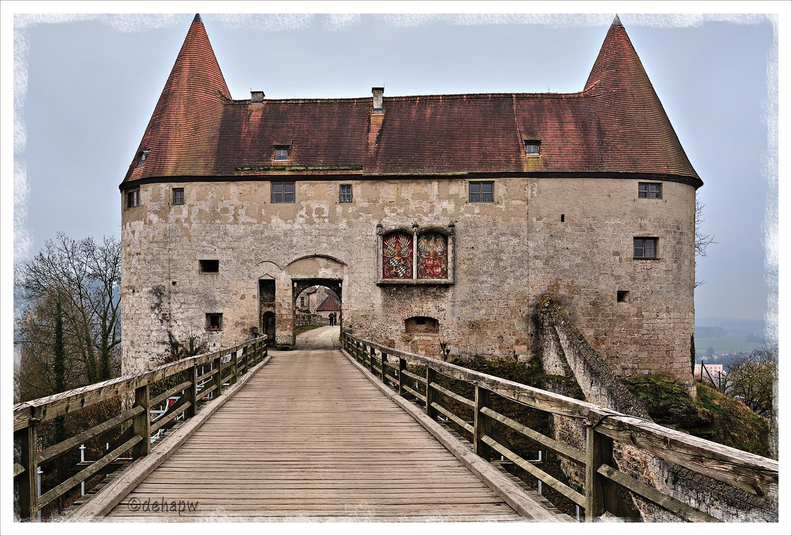 Detailansicht Burganlage Burghausen 2