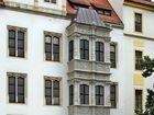 Detailansicht im Innenhof vom Schloss Hartenfels in Torgau