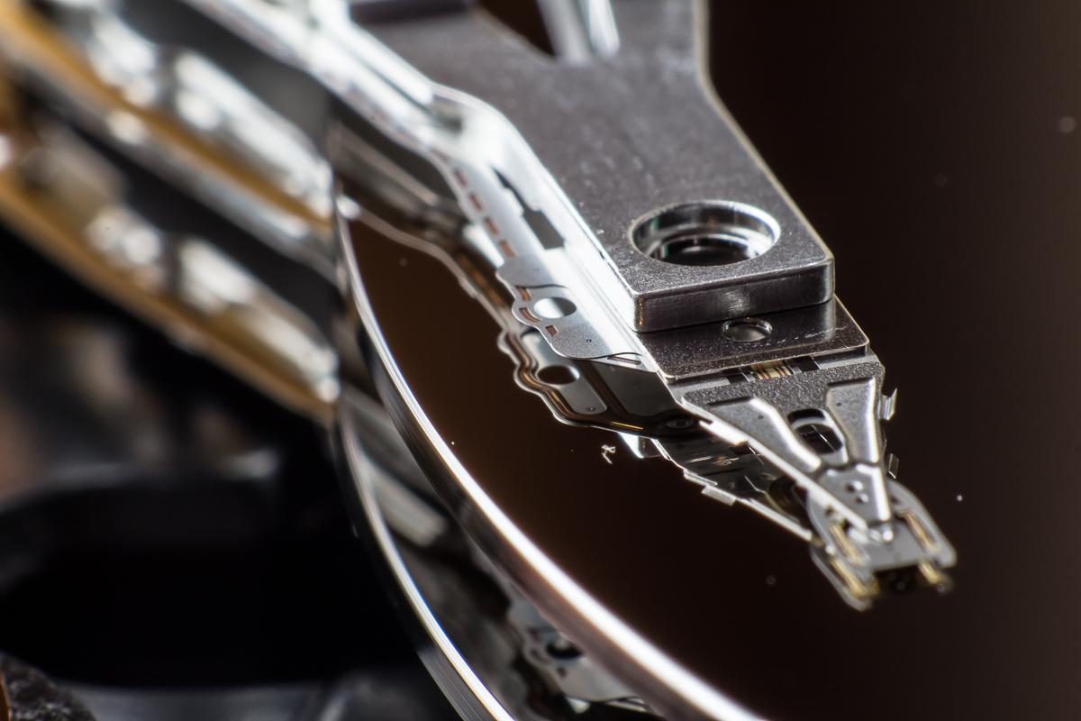 Detailansichten einer Festplatte 3