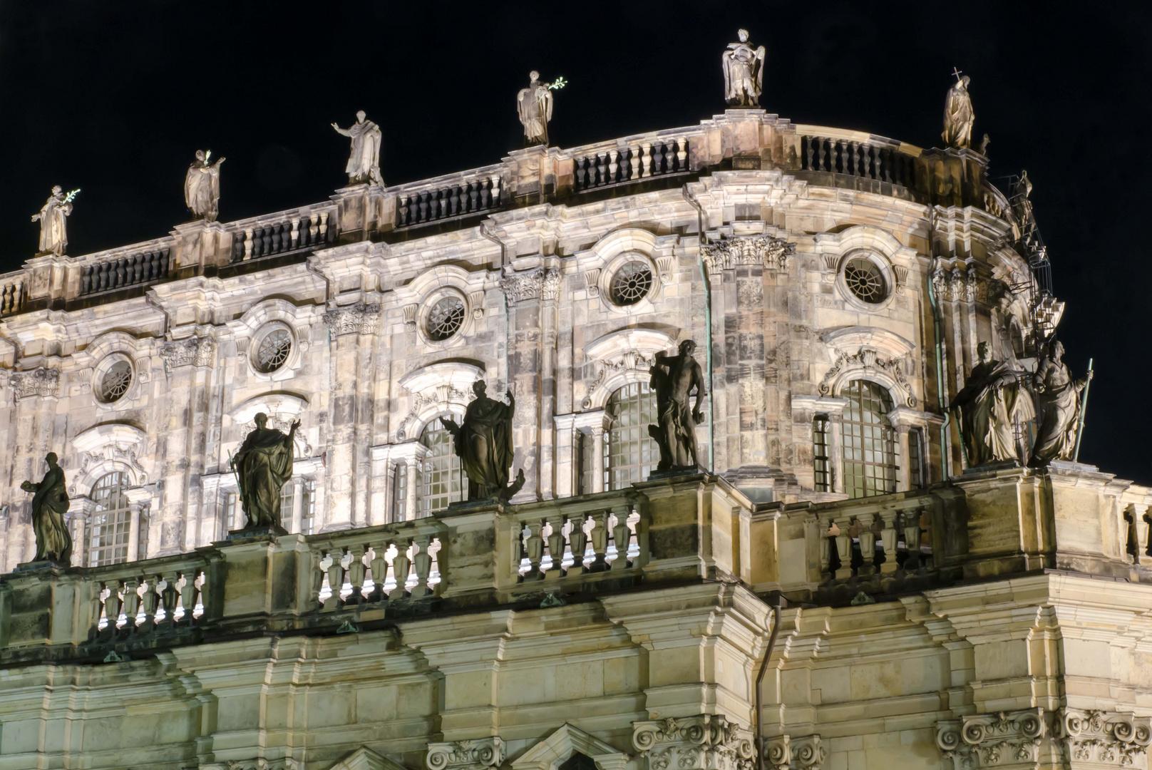 Detailaufnahme der Hofkirche zu Dresden