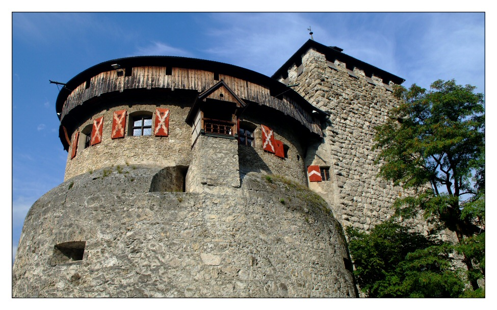 Detailaufnahme von Schloss Vaduz