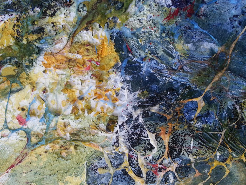 Detail,Mischtechnik,Collage auf Leinwand
