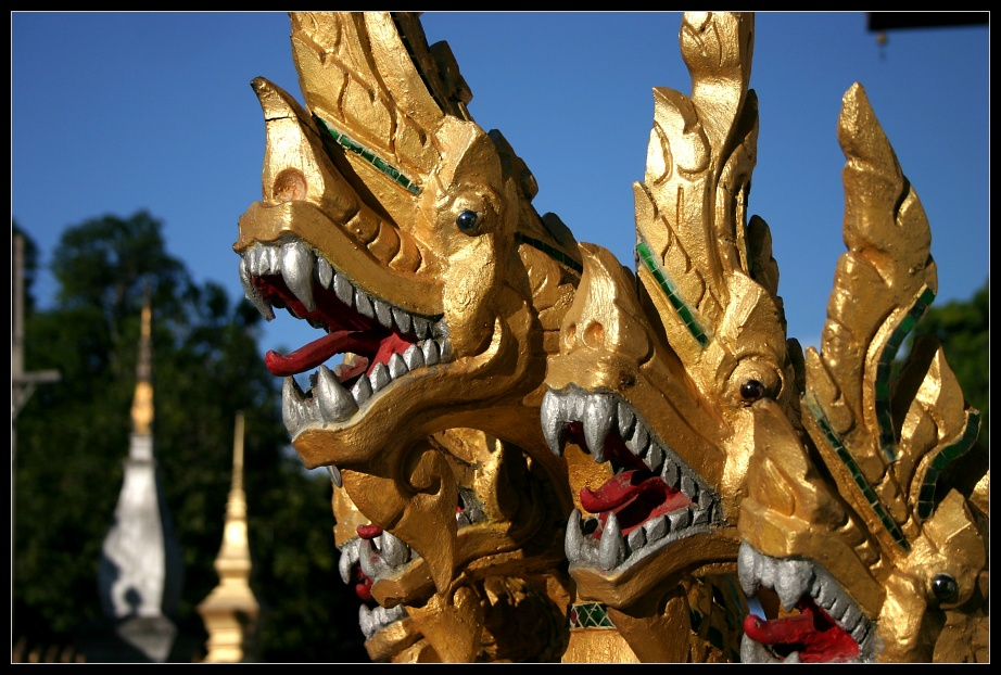 Details am Wat Nong Sikhounmuang, Luang Prabang, Laos