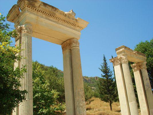 détails de ruines d'Ephese