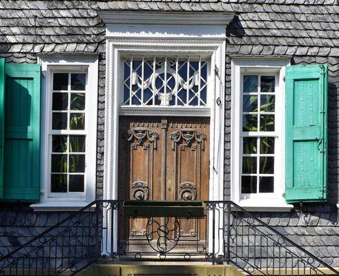 Details des Engels-Hauses in Wuppertal