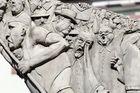 Details des Esels auf dem Markplatz in Biberach