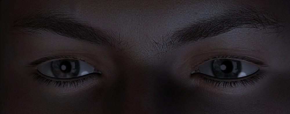 Détails du visage - Michael