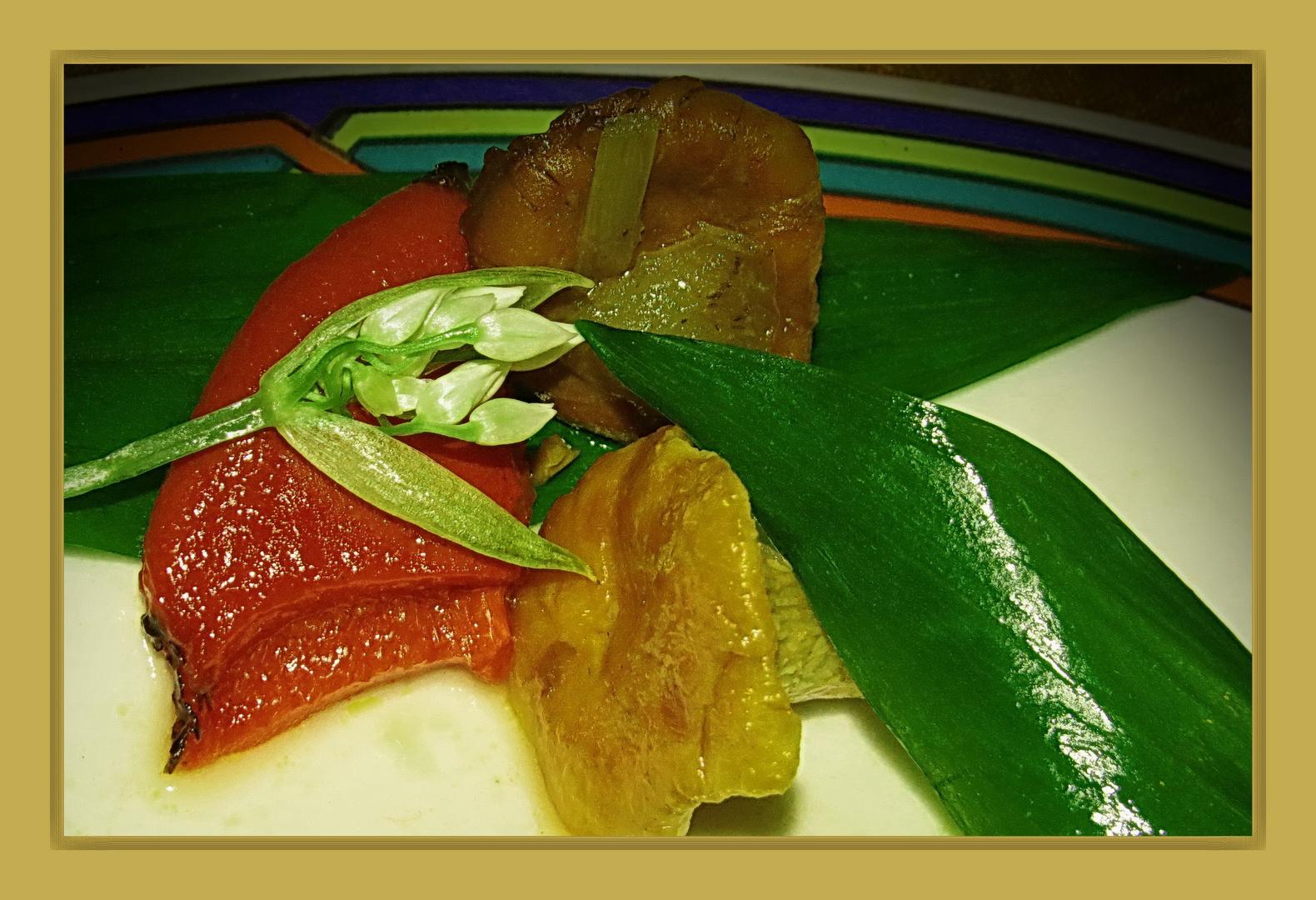 Details für 'ne ganze Pfanne (mit viel Bärlauch) : Waldpilze + Paprika + Zwiebeln