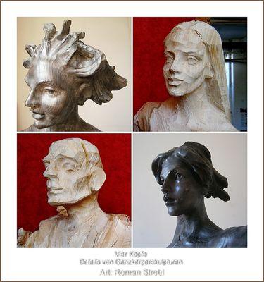 Details von Plastiken von Roman Strobl