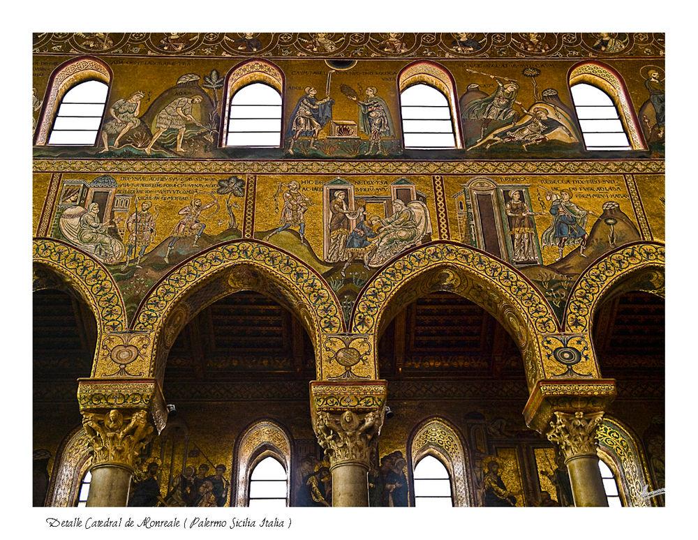 Detalle Catedral de Monreale ( Palermo Sicilia Italia )