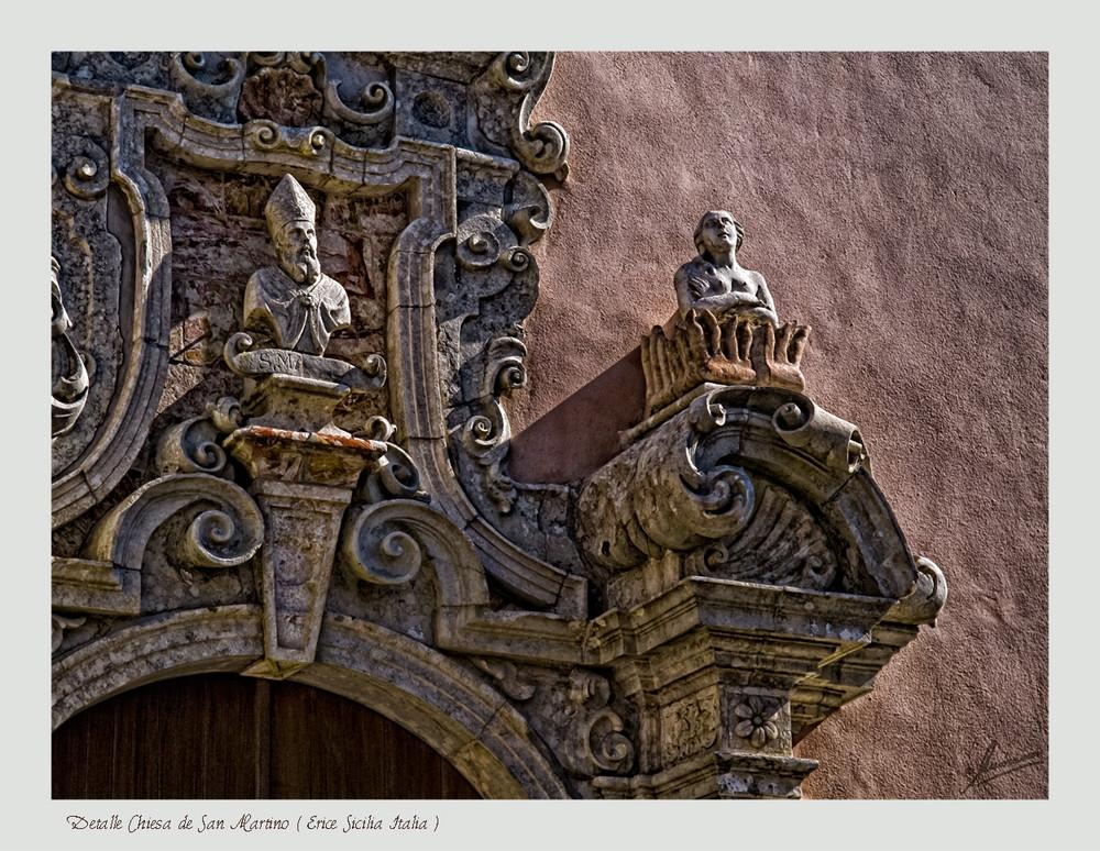 Detalle Chiesa de SanMartino( Erice Sicilia Italia )