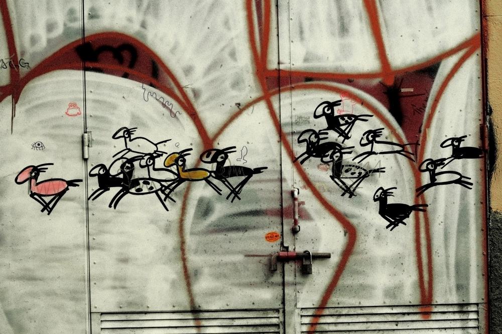 detalle de grafitti