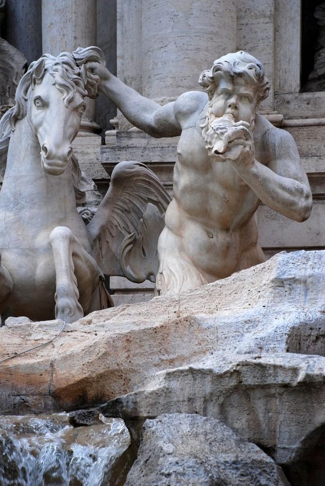 Detalle de la Fontana di Trevi
