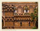 Detalle fachada principal Catedral de Palermo ( Sicilia Italia )